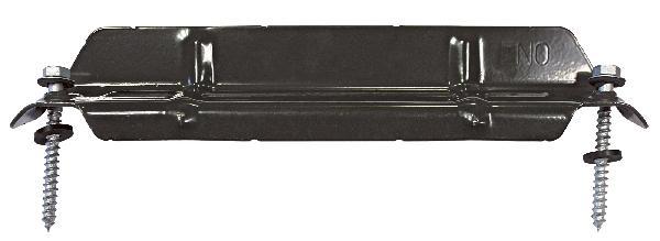 ARRET NEIGE BAC ACIER PROFIL850-283+TIREF.8X80+RONDELLE RAL7022GRIS