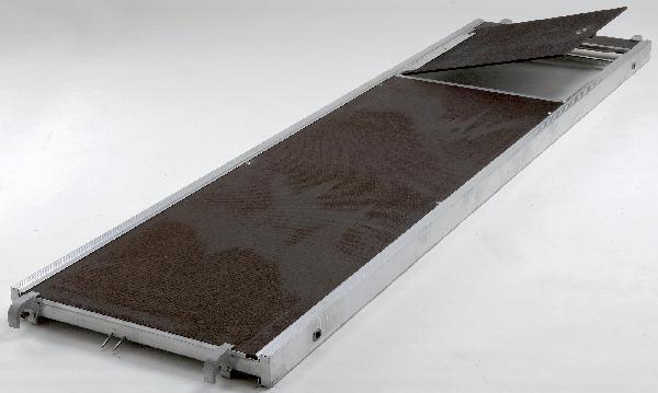 Planchers + échelle acier R08-CT3000X850 alu/bois à trappe lot 3