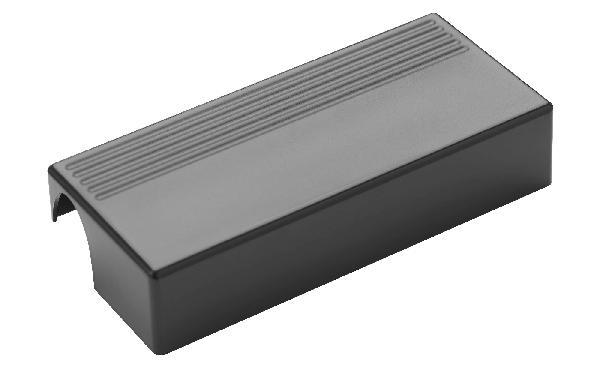 Porte savon sur barre ARSIS 16x7,1x3,5cm gris anthracite