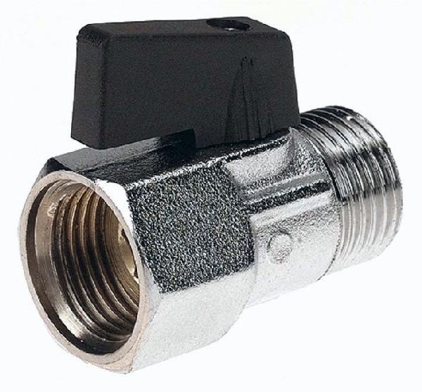 "Robinet à sphère laiton MF 1/4"" gaz mini 16bar"