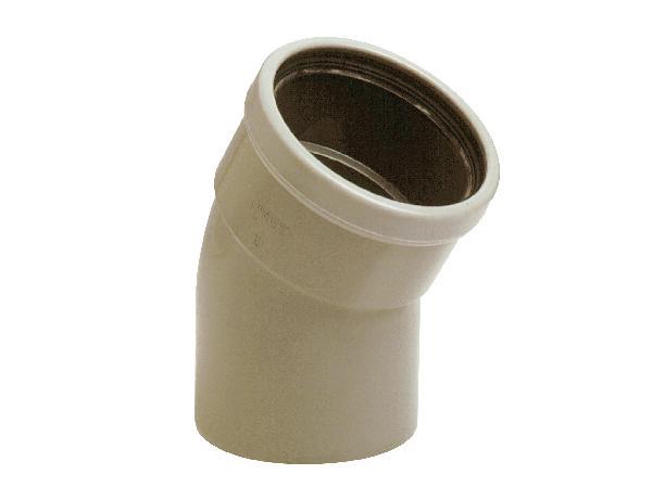 Coude PVC assainissement CR4 Ø160 mâle-femelle 30°