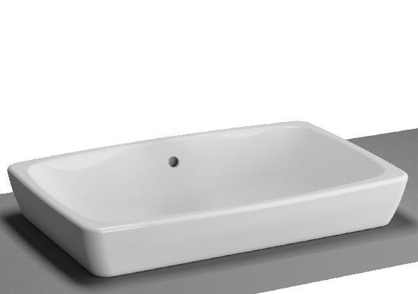 Vasque à poser METROPOLE 60x40cm blanc