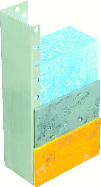 Profilé arrêt latéral alu pour isolant 60mm 2.5m