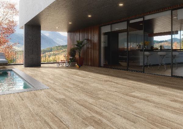 Carrelage terrasse Coolwood hazel 22,2x89,7cm Ep.10,5mm