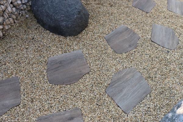 Pas japonais HOLZ MARRONE 42x36cm bois