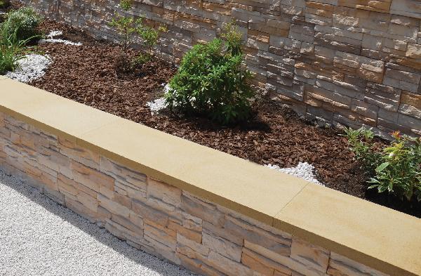Couvertine OPTIPOSE plat 99x30cm Ep.4cm ton pierre