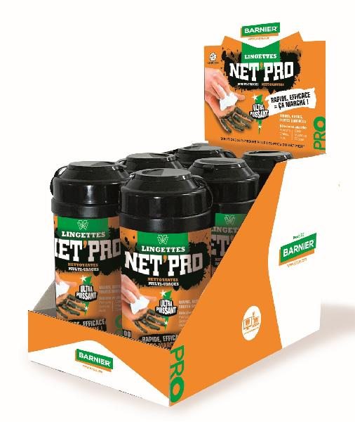 Lingettes nettoyantes multiusage NET'PRO tube 100