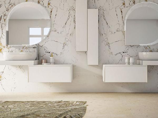 Colonne TAVOLONE bois blanc 20x100x14cm
