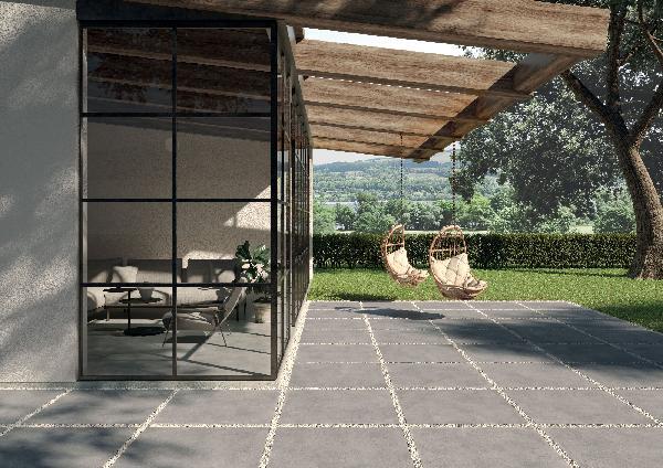 Carrelage terrasse CITY grigio 60x60cm Ep.8,5mm