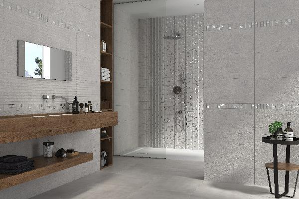 Faïence décor SIGNO BROOKLYN concept gris 61x31cm Ep.10,3mm