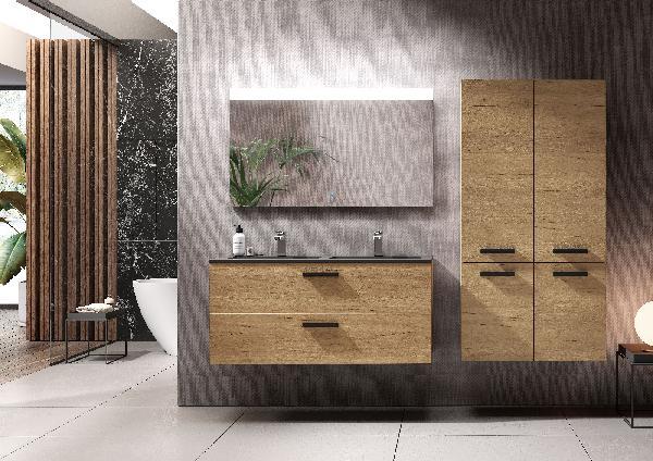 Miroir salle de bain led ARCHITECTBOSKO aluminium 2x70x120cm