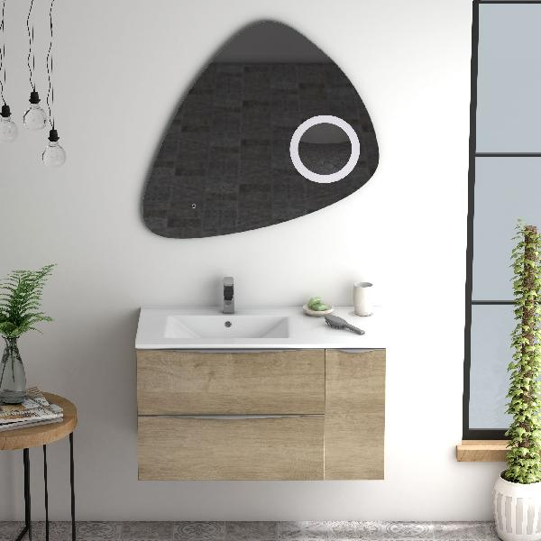 Miroir salle de bain led STONE 80cm