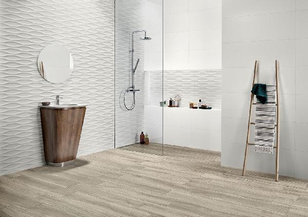 Faïence décor GENESIS dune white mat 35x100cm Ep.10,5mm