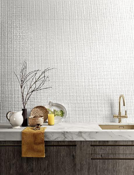 Faïence décor GENESIS arid white brillant 30x60cm Ep.8,5mm