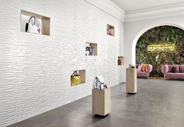 Faïence décor GENESIS desert white mat 45x120cm Ep.11,5mm