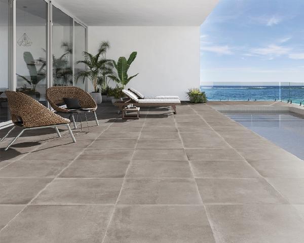 Carrelage terrasse BROOKLYN beige rectifié 75x75cm Ep.10,5mm