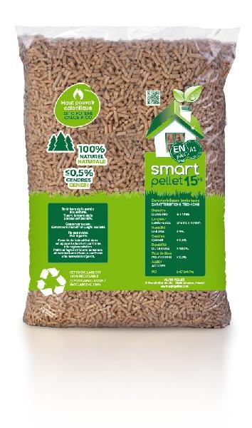 Granulés bois pellet BIO SMART PELLET 100% épicéa EN plus A1 sac 15kg