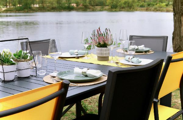 Table aluminium de jardin CAPUCINE 200/300 x100cm