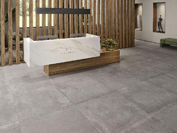 Carrelage terrasse EVOKE grey rectifié 60x60cm Ep.9,5mm
