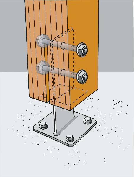 Boulon tête hexagonale pour charpentier Ø16x240mm pièce(s)
