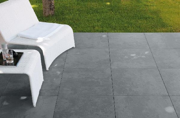 Carrelage terrasse LYON noir rectifié 60x60cm Ep.20mm