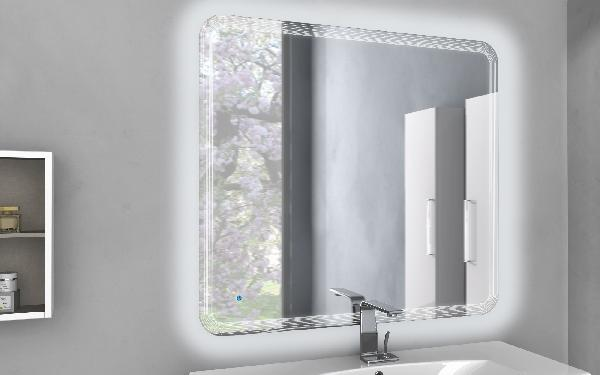 Miroir salle de bain systeme touch led 90x100cm for Systeme audio salle de bain