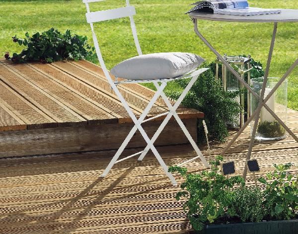 lame terrasse pin classe 4 brun 1 face stri e 27x145 5 40m. Black Bedroom Furniture Sets. Home Design Ideas