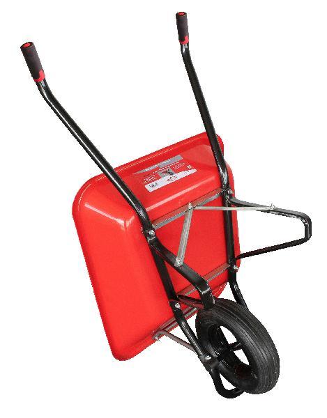 Brouette pro 100L LES INDISPENSABLES roue gonflée rouge