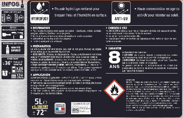 LASUR.HTE PROT.CHENE M.5L+20%G