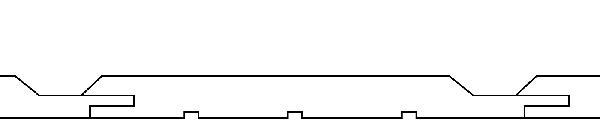 BARDAGE PIN AUTOCLAVE CLASSE 4 BRUN ELEGIE RAINE BOUT 21X135MM 4,80M