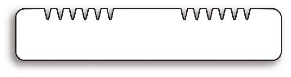 Lame terrasse frêne thermo 2 peignes 20x140mm 2,20m